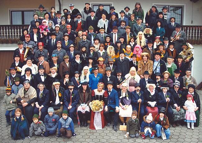 Obertraubenbach Faschingshochzeit Gesellschaft